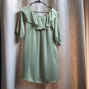 Potter's Pot gorgeous green shoulder dress